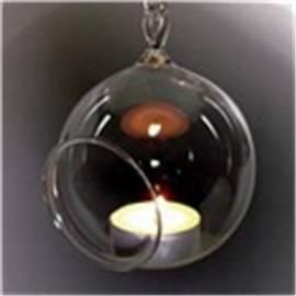 Windlicht aus Klarglas - Bild vergrößern