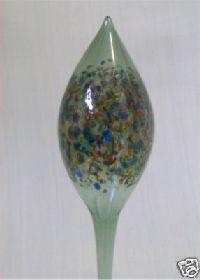 Bewässerungskugel Olive Farbglas grün + multicolor